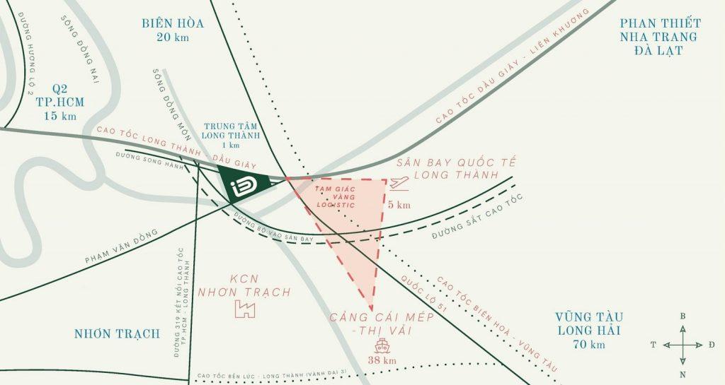 vị trí dự án id junction long thành